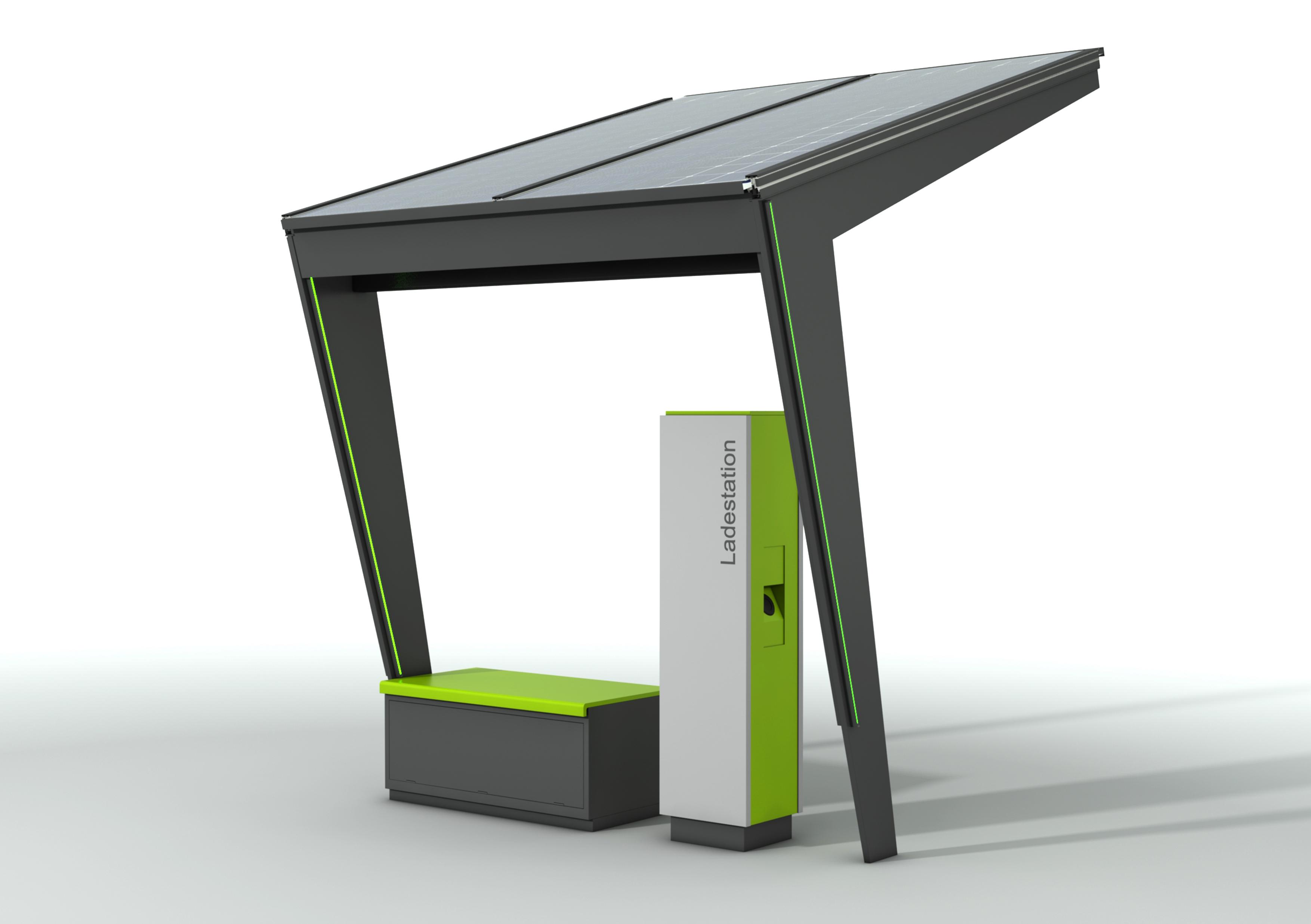 einzelsegment elektroauto ladestation berdachung. Black Bedroom Furniture Sets. Home Design Ideas